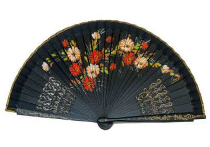 Fretwork Fan and Painted by Two Faces. ref 1134