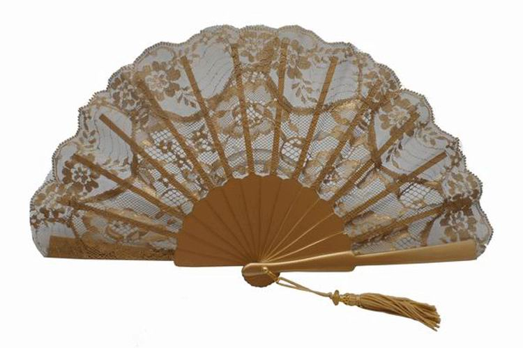 Golden Ceremony or Party Fan. Ref. 1730