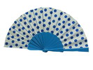 Polka Dots Fan. White Background With Blue Dots 3.510€ #50032Y480LAZUL