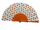 Polka Dots Fan With White Background And Orange Dots 3.510€ #50032Y480LNRJ