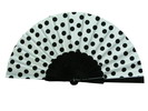 Polka Dots Fan With White Background and Black Polka Dots 3.510€ #50032Y480LNG