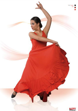Skirt for Flamenco Dance by Happy Dance Ref.147PS15. Orange