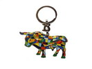 Key ring with mosaic bull